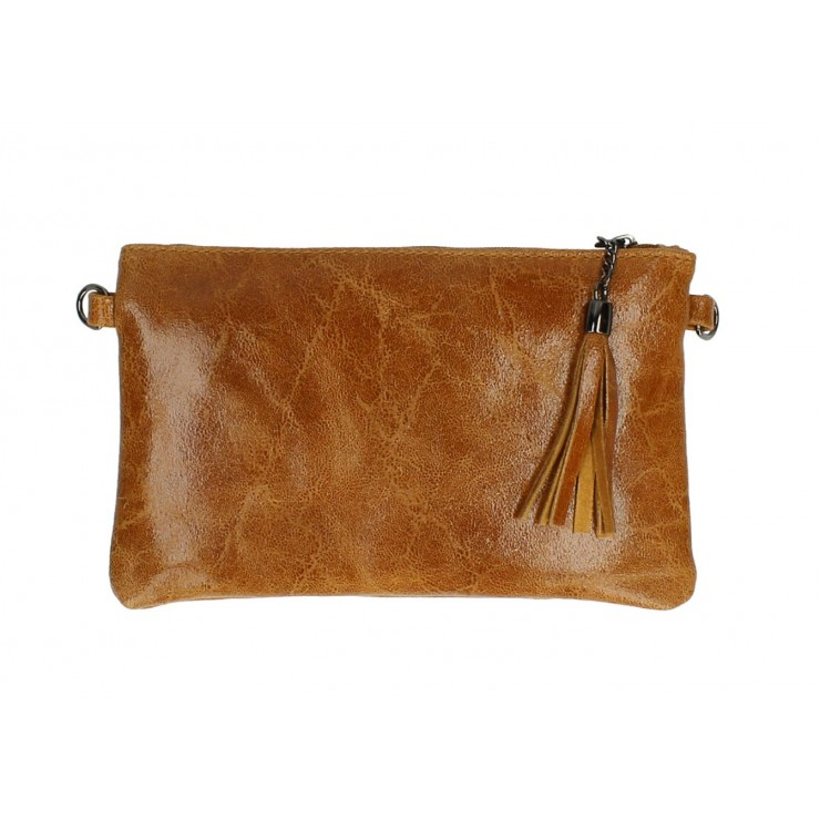 Genuine Leather Handbag 750 cognac