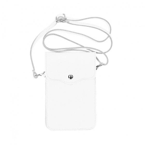 Kožené púzdro na mobil MI895 biele Made in Italy Biela