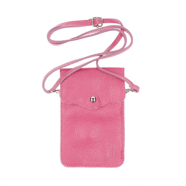Leather strap pocket for Mobile MI895 fuxia Made in Italy