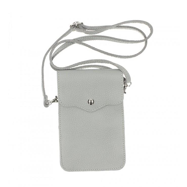 Kožené púzdro na mobil MI895 šedé Made in Italy