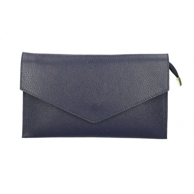 Genuine Leather Handbag 121 dark blue
