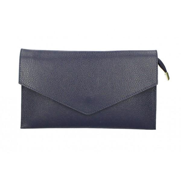 Kožená kabelka 121 tmavomodrá Modrá
