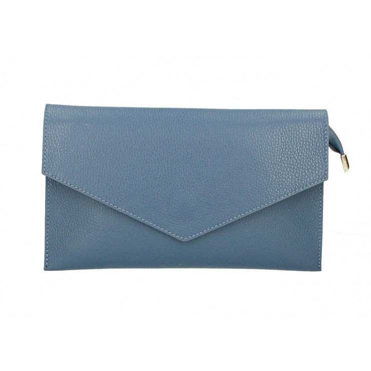 Genuine Leather Handbag 121 light blue