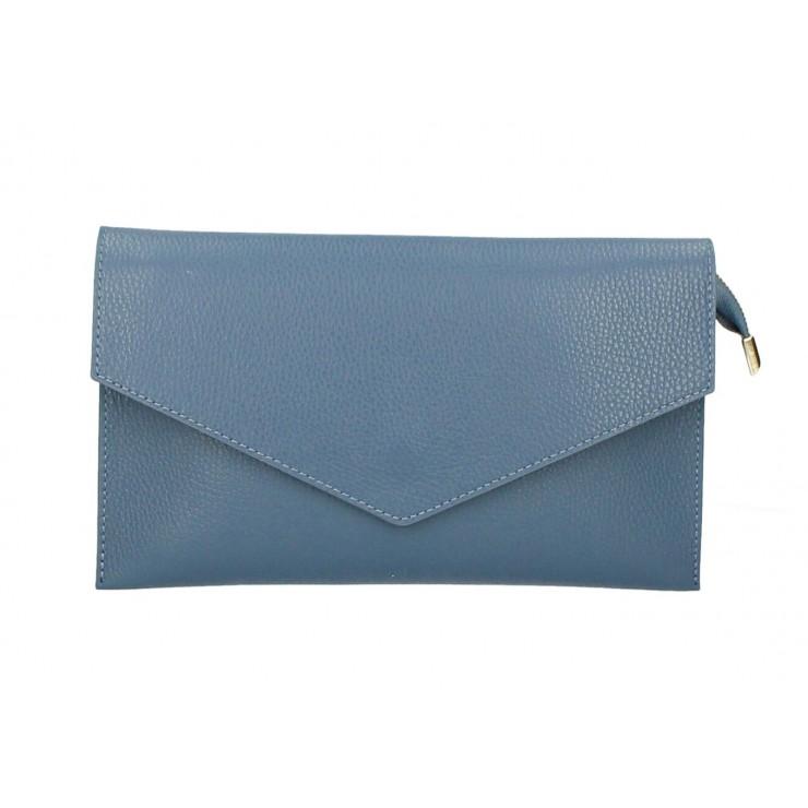 Kožená kabelka 121 blankytná modrá