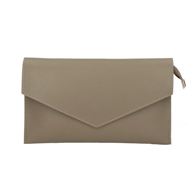Genuine Leather Handbag 121 dark taupe