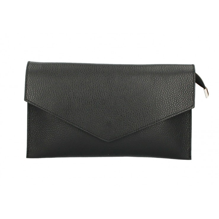 Kožená kabelka 121 černá