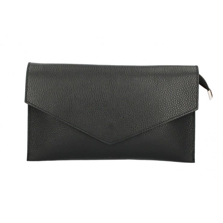 Kožená kabelka 121 čierna