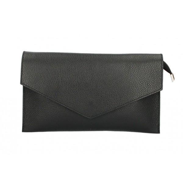 Kožená kabelka 121 čierna Čierna