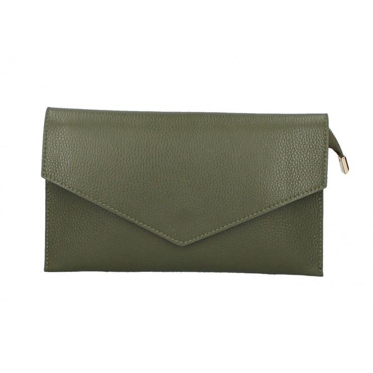 Kožená kabelka 121 vojensky zelená