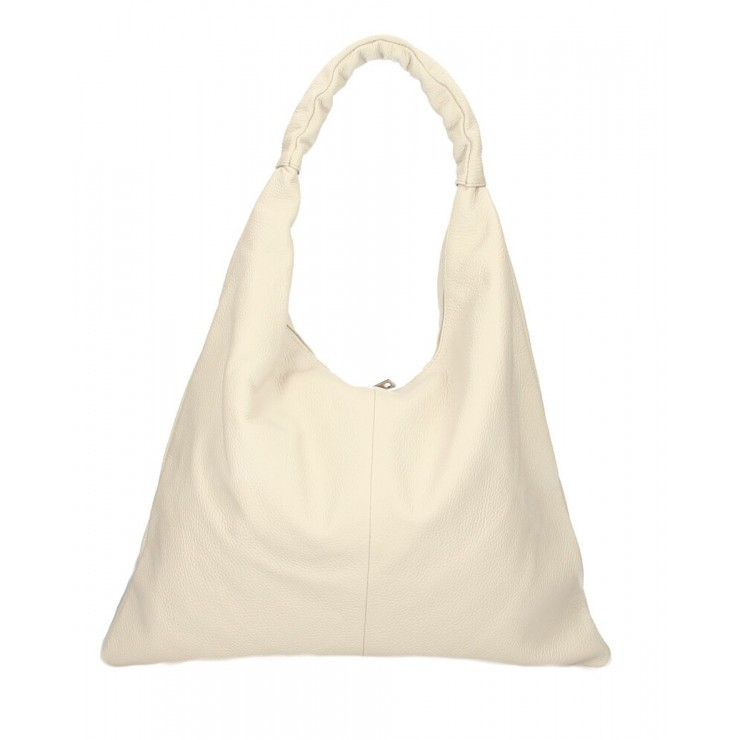 Leather shoulder bag 139 beige MADE IN ITALY