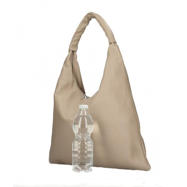 Kožená kabelka na rameno 139 béžová MADE IN ITALY Béžová