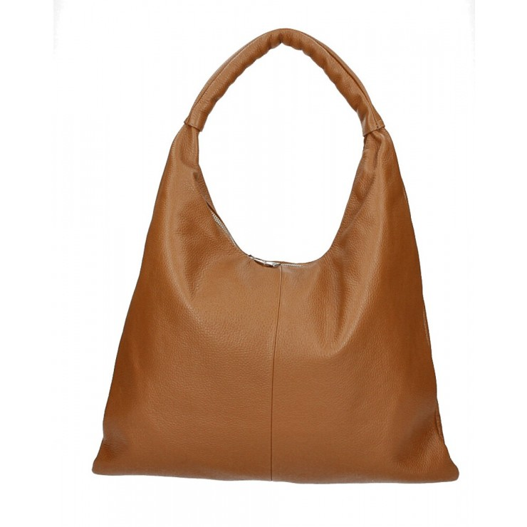 Leather shoulder bag 139 cognac MADE IN ITALY