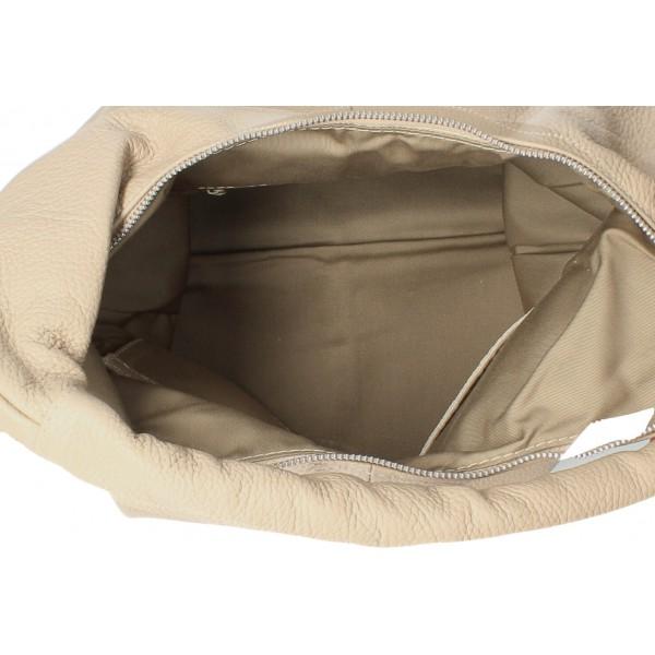 Kožená kabelka na rameno 139 tmavošedá MADE IN ITALY Šedá