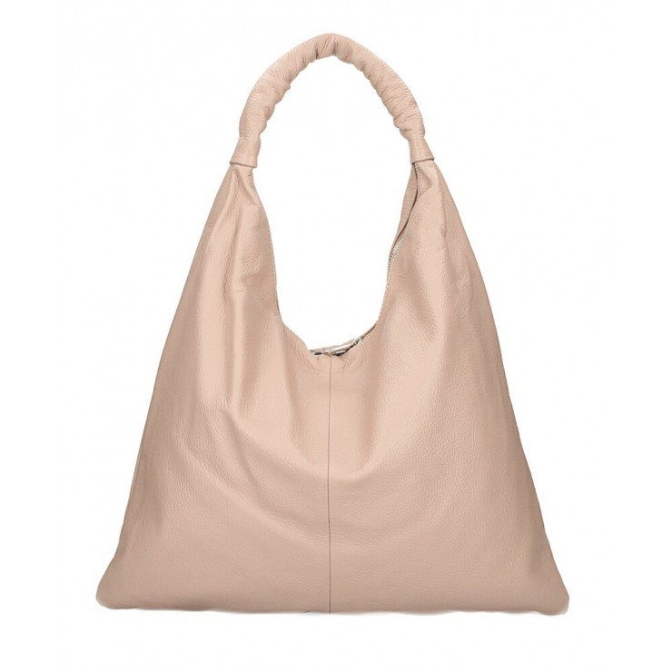 Leather shoulder bag 139 powder pink MADE IN ITALY