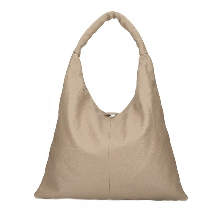 Leather shoulder bag 139 taupe MADE IN ITALY