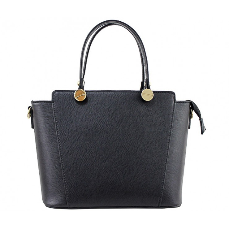 Genuine Leather Handbag  1461 black