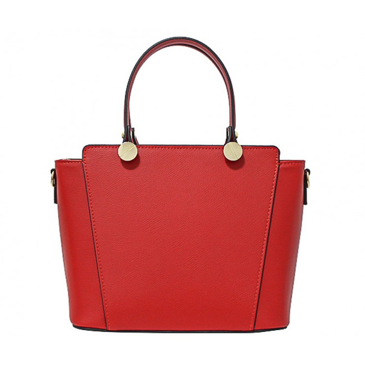 Genuine Leather Handbag  1461 red