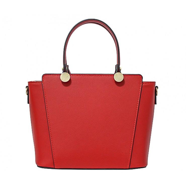 Kožená kabelka 1461 červená Made in Italy