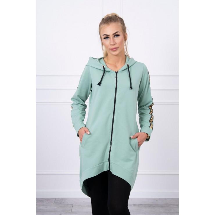 Women's sweatshirt with zipper at the back MI8997 mint