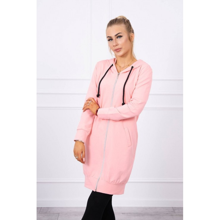Hooded dress with e hood  MI8924 salmon