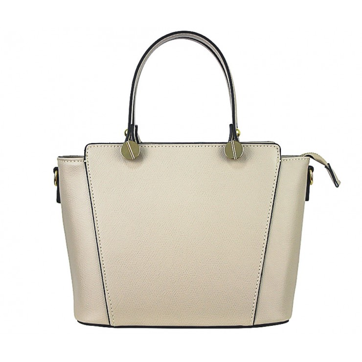 Genuine Leather Handbag  1461 taupe