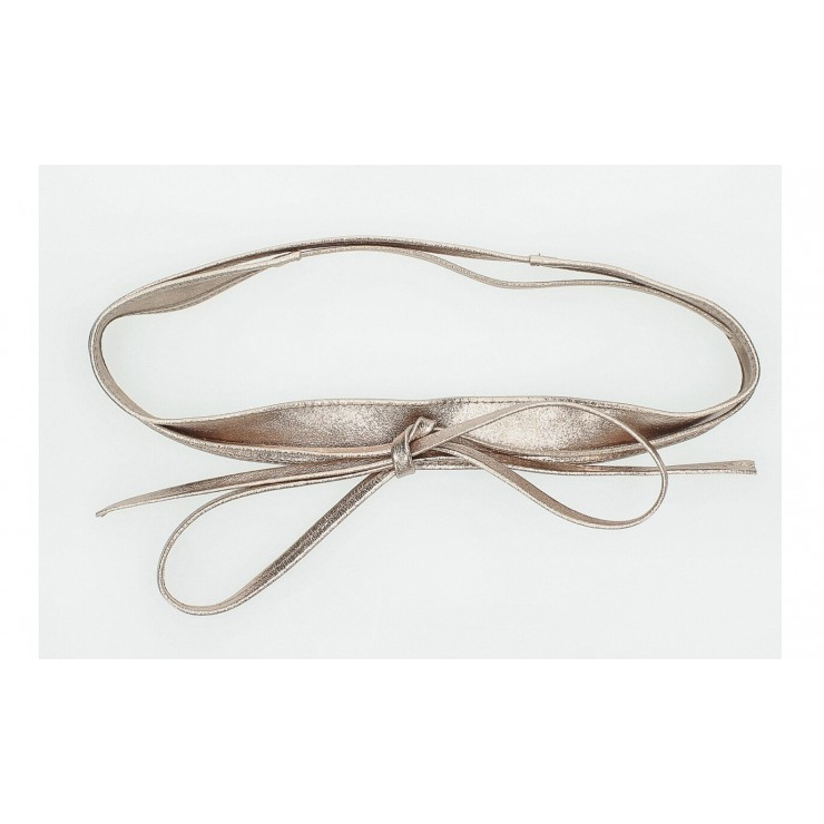Genuine Leather sash belt 276 bronze Made in Italy
