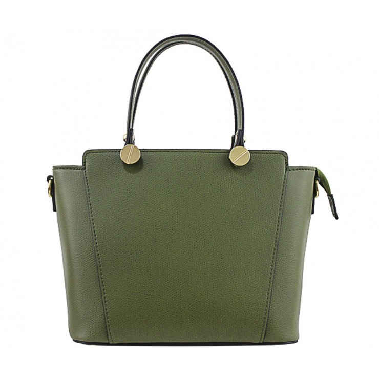 Genuine Leather Handbag  1461 green