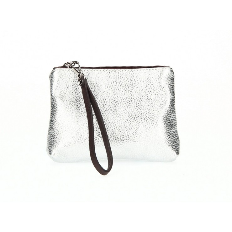 Leather Pouch 285 silver Made in Italy