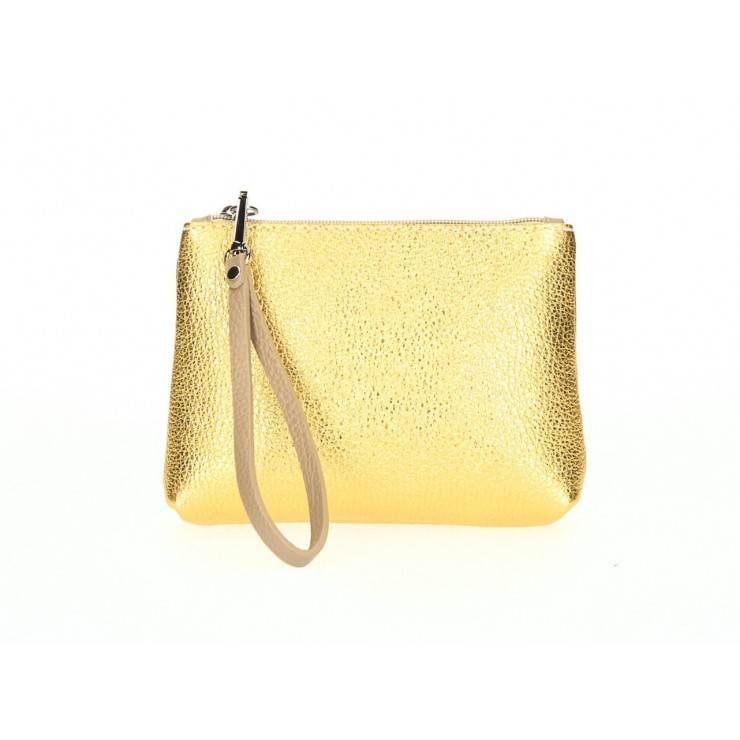 Kožené pouzdro 285 zlatožluté Made in Italy