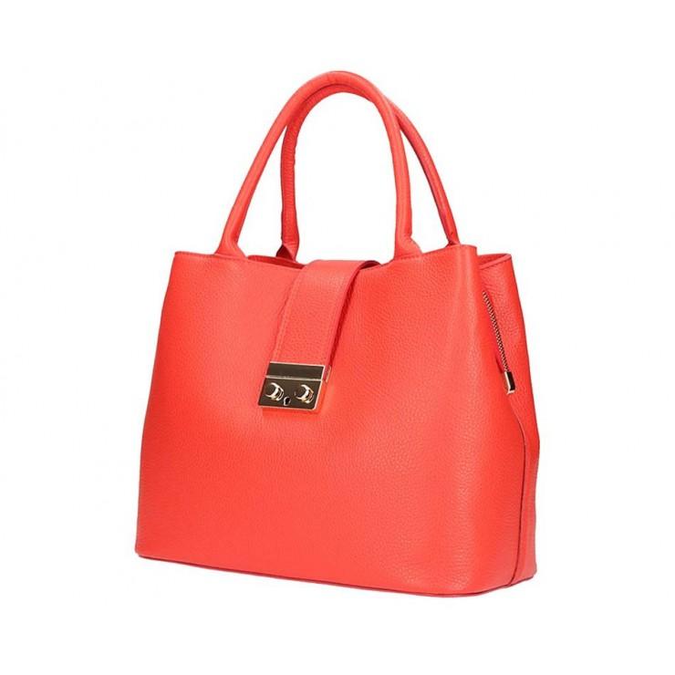Korálová kožená kabelka 5307