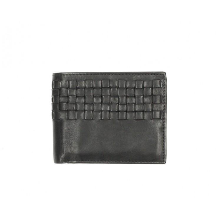 Pánska kožená peňaženka 286 čierna Cotton Belt