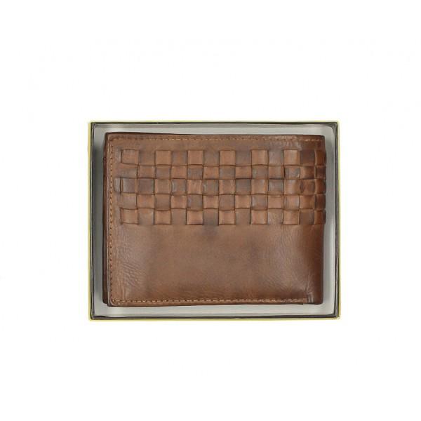 Pánska kožená peňaženka 286 čierna Cotton Belt Čierna