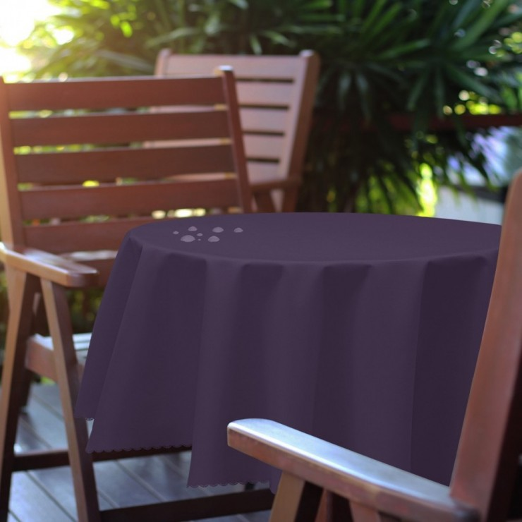Round garden tablecloth 288 dark purple