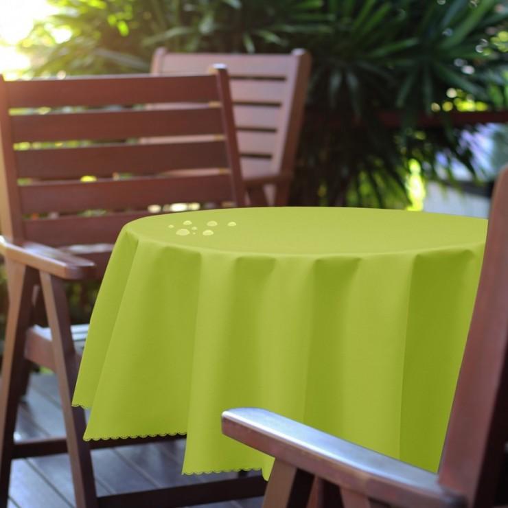 Obrus okrúhly záhradný 288 olivovo zelený