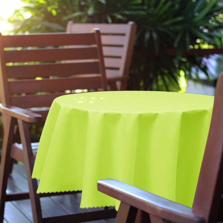 Round garden tablecloth 288 lime green