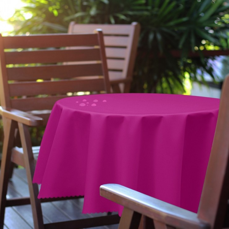 Round garden tablecloth 288 fuxia