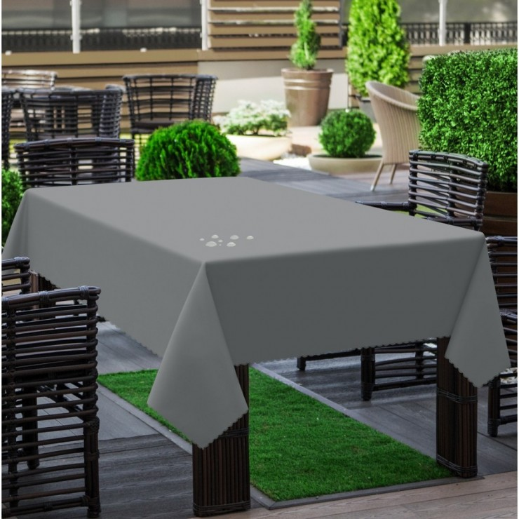 Garden tablecloth 290 dark gray