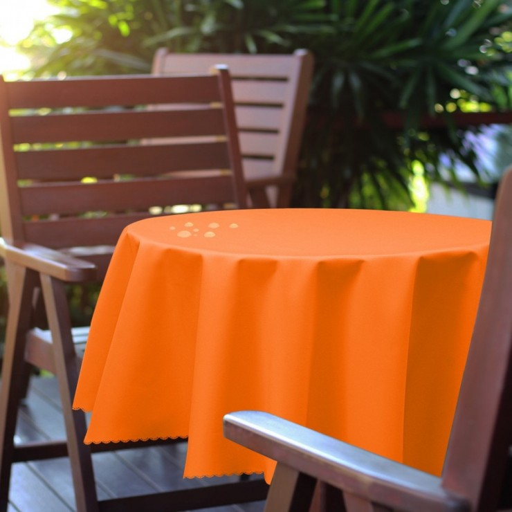 Round garden tablecloth 288 orange
