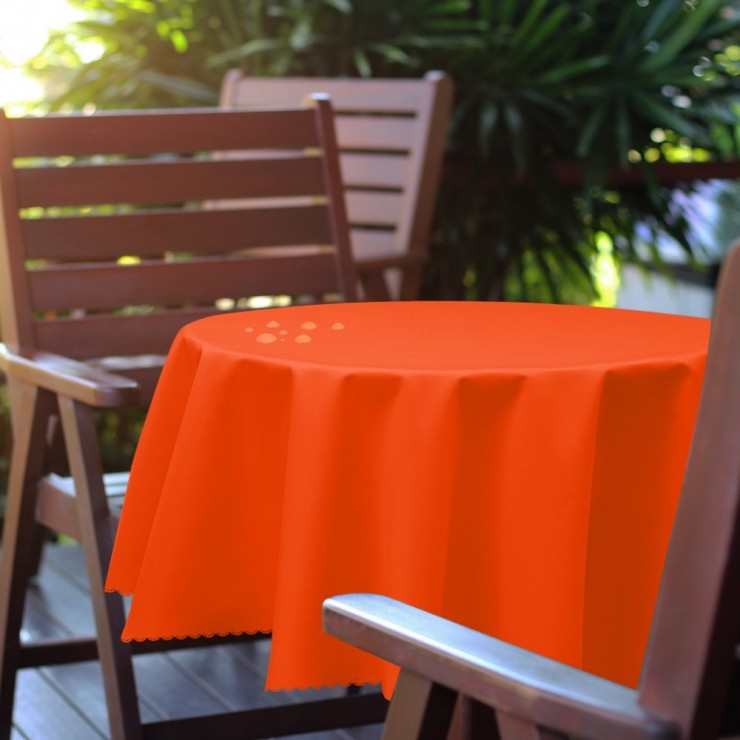 Round garden tablecloth 288 dark orange