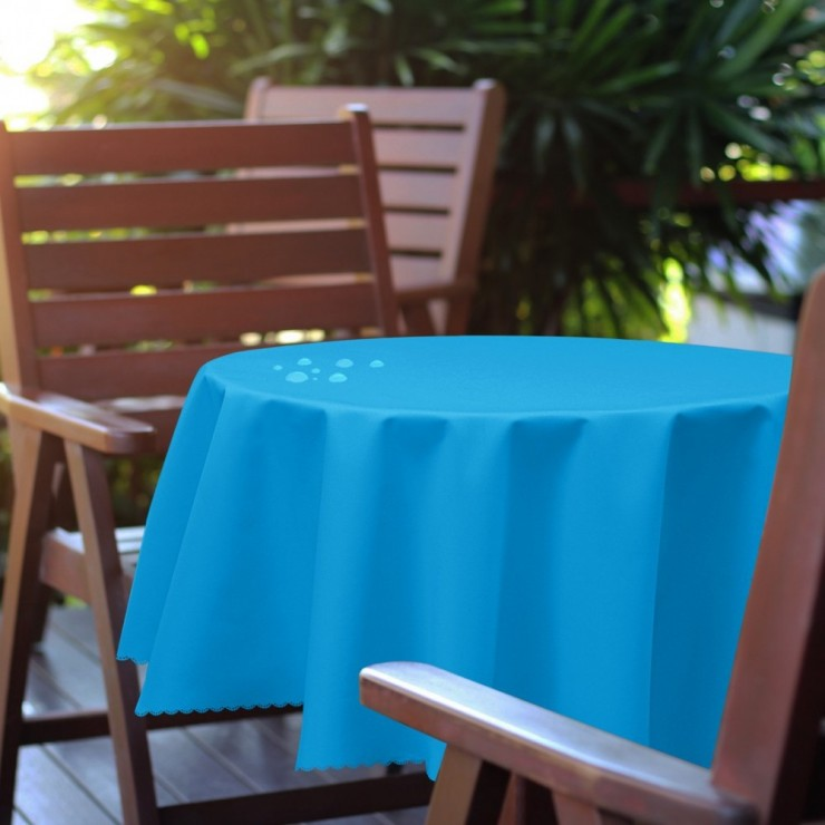 Round garden tablecloth 288 dark turquoise