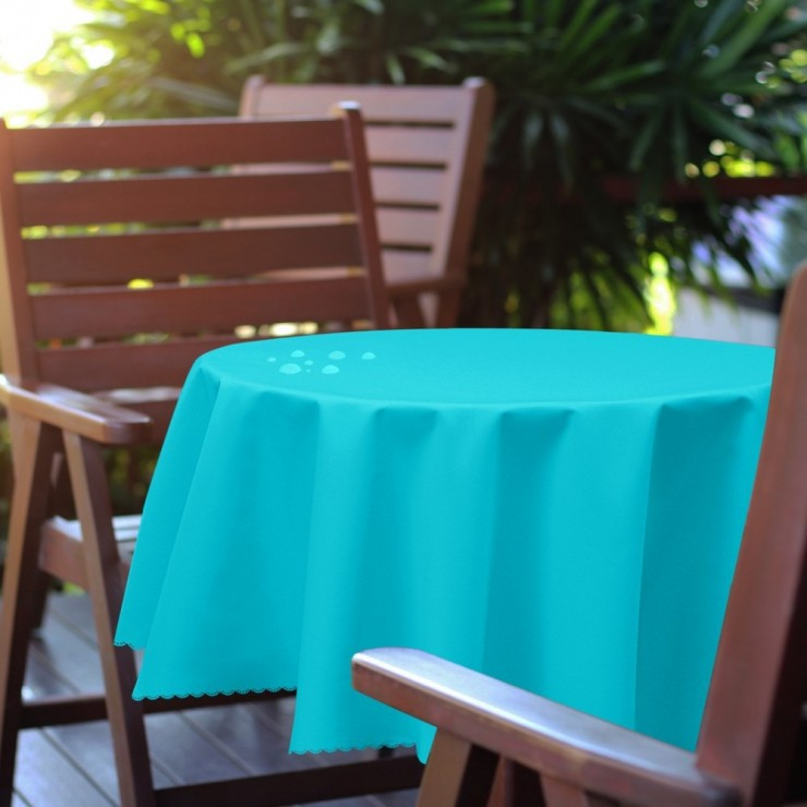 Round garden tablecloth 288 turquoise