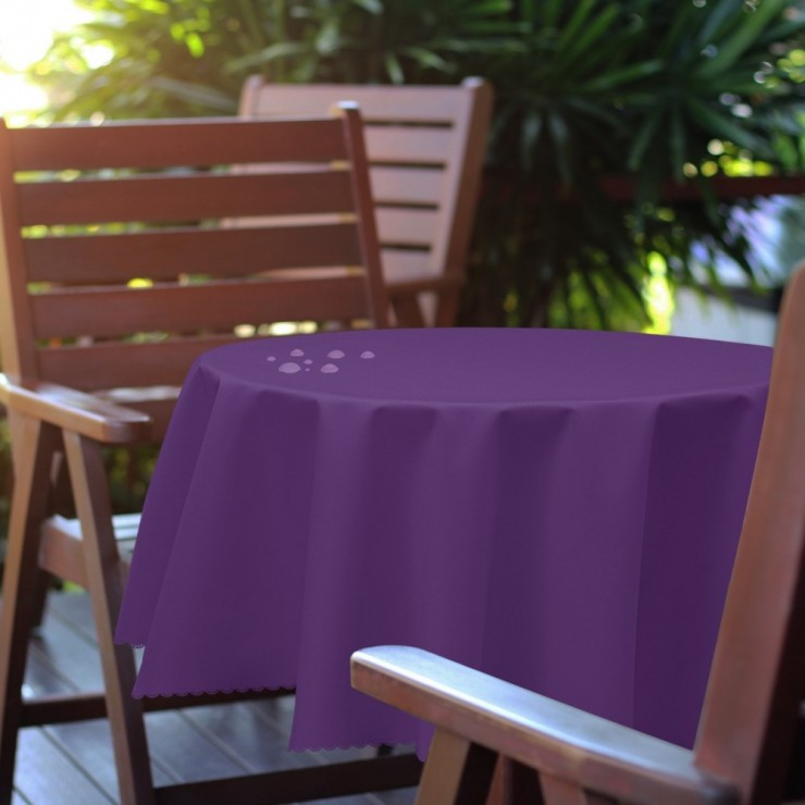 Round garden tablecloth 288 purple
