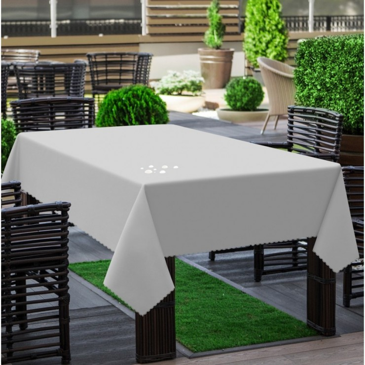 Garden tablecloth 290 light gray