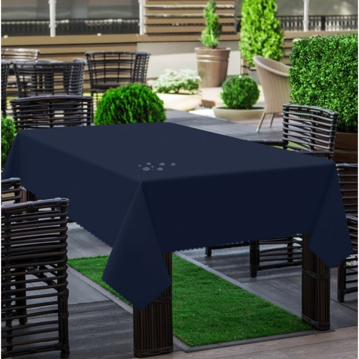 Garden tablecloth 290 dark blue