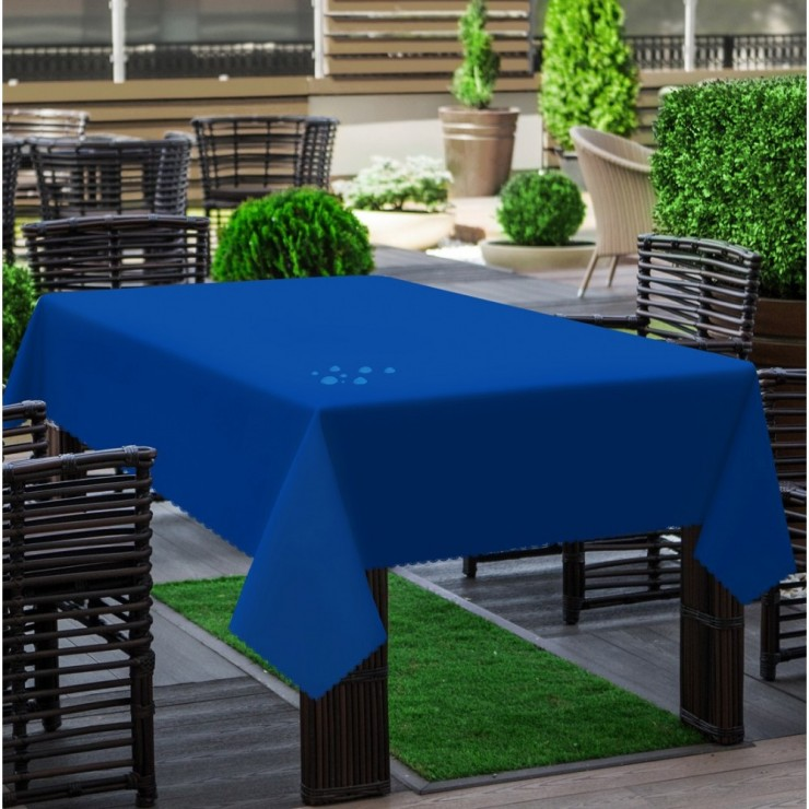 Garden tablecloth 290 azure blue