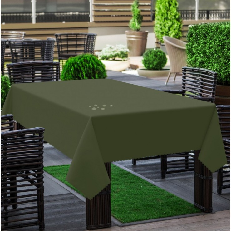Garden tablecloth 290 dark green