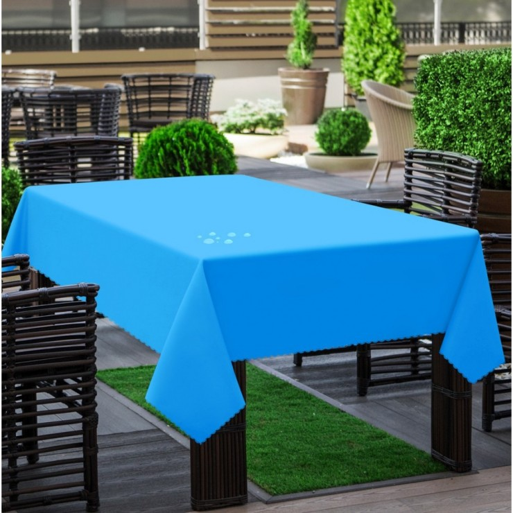 Garden tablecloth 290 light blue