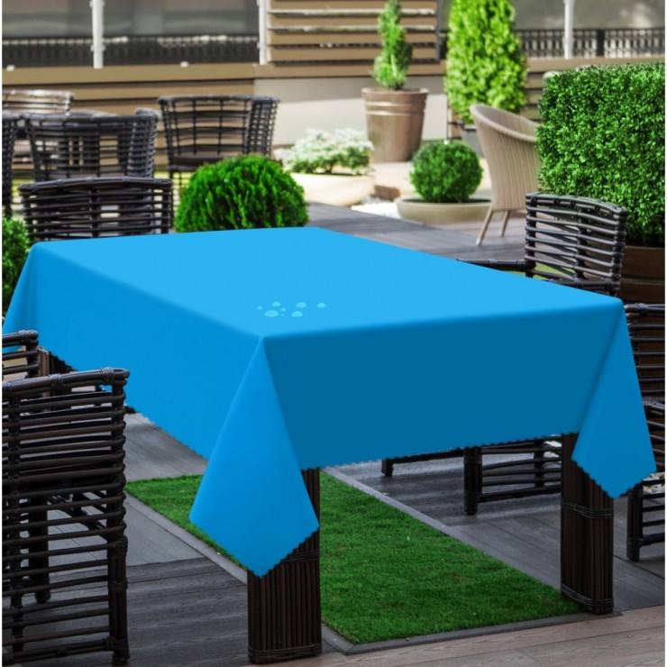 Garden tablecloth 290 dark turquoise