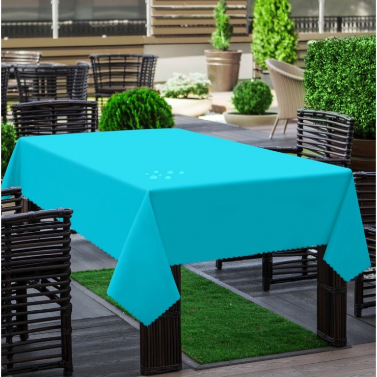 Garden tablecloth 290 turquoise