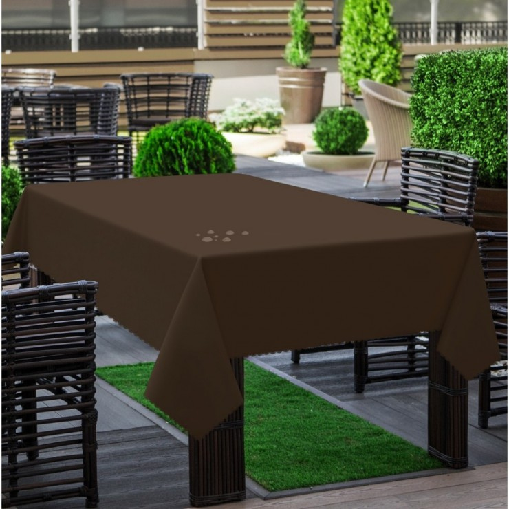 Garden tablecloth 290 dark brown